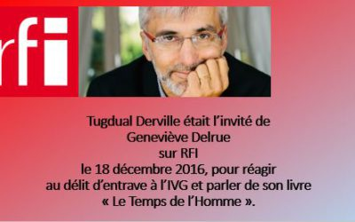 Emission sur RFI – 18 décembre 2016